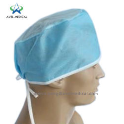 Fait à la main le bouchon en PP non tissé en polypropylène Médecin Infirmière Pac Spunlace chirurgicale Scrub chapeaux SMS Hôpital jetables bouffant Cap l'opération personnalisée le chapeau de chambre