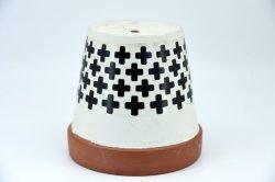 Terrakotta-Blumen-Potenziometer-Lehm-keramisches Tonwaren-Pflanzer-Kaktus-Blumen-Potenziometer-saftiges Potenziometer-Entwässerung-Loch
