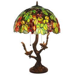 Antigüedades de alta calidad Vitreaux Tiffany Lámpara de mesa