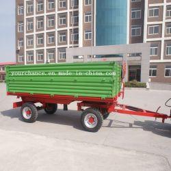 7cx-6t van uitstekende kwaliteit 6 van de Dubbele van de As Vierwielige Tippende Ton Aanhangwagen Met drie richtingen van het Landbouwbedrijf