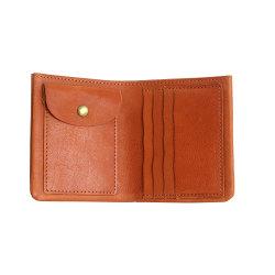 O logotipo personalizado Bifold couro artesanais homens Slim Wallet