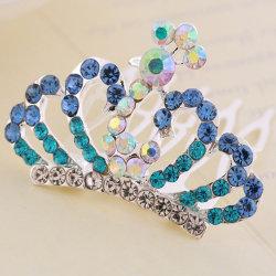 다이아몬드와 크라운 패션 헤어 클로
