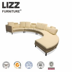 Intérieur moderne de meubles en coupe canapé en cuir Modèles de meubles de salle de gros