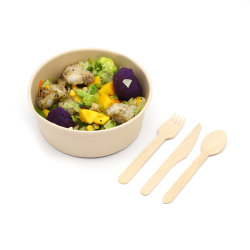 Paper Bowl for Hot Food Salad Soup Deli fruit with Vetbestendigheid deksels