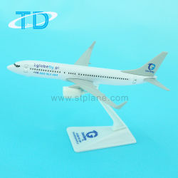 Aviones de modelo en miniatura de metal Diecast aviones B737-800