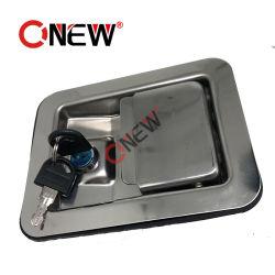 Paleta de herramientas de acero inoxidable eléctrico de bloqueo del panel de la caja de metal Mango de conjunto de la cerradura de puerta