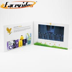 L'impression de gros vrac Facevideo 10.1 pouces moniteur LCD Carte cadeau d'écran vidéo Vidéo Brochure Magazine pour les soins de la peau