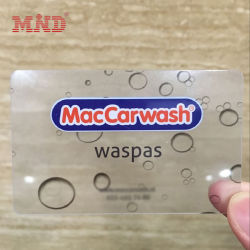 Custom ПВХ 30 mil прозрачных Business Card Подпись панели пластиковые Cmyk Очистить карту