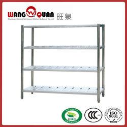Cuatro pisos de acero inoxidable de estanterías modulares permanente
