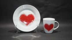 Coppia Love Decal Porcellana Cup E Saucer Regalo Di Moda Da Cina Fornitore