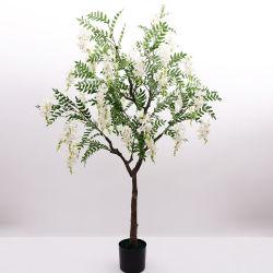 Salice artificiale della pianta di simulazione dell'albero di salice piangente dell'albero del fiore del fagiolo