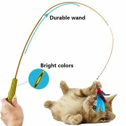 Novo Produto Pet grossista Cão Gato Teaser Toy Acessórios com Feather