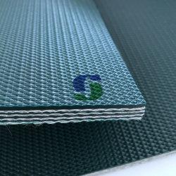 Surface rugueuse en PVC double face de la courroie du convoyeur