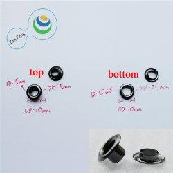 10mm Rideau Vintage Double côté décoratif Round cosse pour accessoires du vêtement (FJ10MM-19)