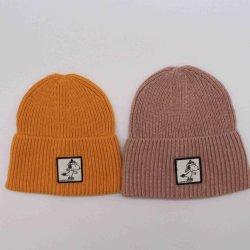 ウール及びアクリルの帽子2つのカラーによって編まれる帽子