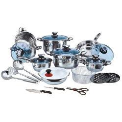 26pcs ustensiles de cuisine en acier inoxydable ensemble avec des ustensiles de cuisine