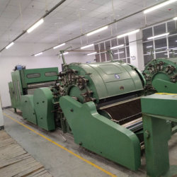 Teaser Laine peignée cardage de la machine pour la filature de fils de laine