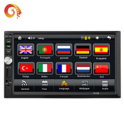 GPS Car rádio estéreo de 7'' a capacitância de TFT com ecrã táctil carro MP5 Player