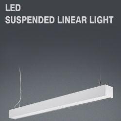 2019 Nouveau produit de lumière LED 1200mm 1500 mm 1800 mm 2400mm 40W 50W 60W 80W linéaires de LED lampe avec la poignée de commande suspendu et les connecteurs de câble de 5 ans de garantie