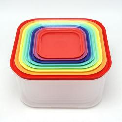 قفل سهل الإغلاق محكم الإغلاق مكون من 16 قطعة وملون لتخزين الطعام المموبوء صندوق (متعدد الألوان)