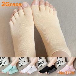 Cinque calzini di slittamento di pattino di yoga della punta della barretta non anti