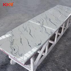 虚栄心の上の台所カウンタートップのためのCoriannの人工的な石造りの固体表面の平板