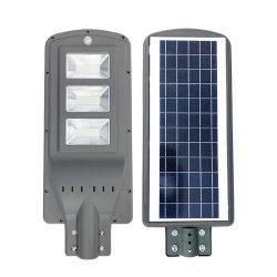 En el exterior IP65 Lámpara de jardín integrado Panel solar de silicio monocristalino de 30 vatios en una sola calle la luz solar LED
