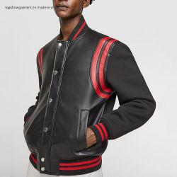 도매 가짜 가죽 폭격기 Jaket 격의없는 스타일 기술적인 직물 재킷