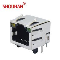 Shenzhen FABRICACIÓN PCB Conector modular RJ45 con componente del equipo de la luz de 8 pines del conector hembra RJ45