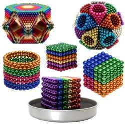 216pcs 5mm DIY Neo aimant coloré Cube Magique Boules de perles