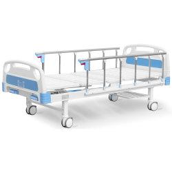 A2K rodízios 2 gira 2 Dobra ajustável de Função Manual de metal de Clínica Médica do Hospital de Enfermagem do paciente Bed
