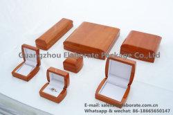Fabricante china de madera maciza Acabado en pintura brillante de los pequeños joyeros