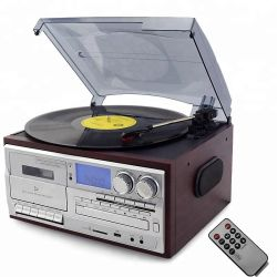 Grammofoon USB Tape Player met Nostalgie 7 in 1 Music System