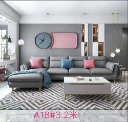 현대 회색 색깔 직물 Recliner L 모양 거실 소파 호텔 침실 가구