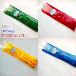 Color Corpúsculos Braçadeira Heat-Resistant Auto-travamento Braçadeira de Nylon