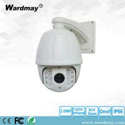 Summen-Hochgeschwindigkeitsabdeckung 2.0/5.0MP der CCTV-Sicherheits-7.0inch HD-IP IR 36X Kamera IP-PTZ