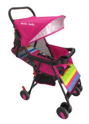 분홍색 여름 휴대용 단순한 설계 아기 2 륜 마차 또는 유모차