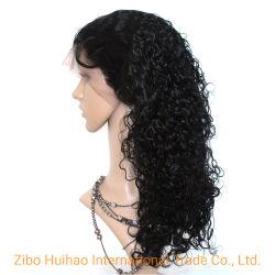 100% el Cabello Natural Cabello peluca Rizo rizado peluca delantera de encaje peluca de encaje completo