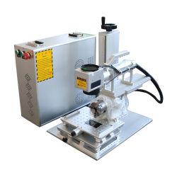 50W 30 와트 Mopa 색깔 Ipg 금속 강철 소형 Portable 3D 회전하는 섬유 Laser 표하기 기계