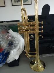 Comercio al por mayor hechos a mano la trompeta, instrumento de metal de alta calidad profesional fabricado en China
