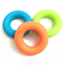 Sans BPA Coloré Bague en caoutchouc de silicone Poignée 30lb doigt main fortifiant avant-bras