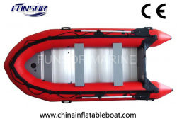 Faltbare aufblasbare Fischerboote mit Außenbordmotor für Geschwindigkeits-Sport