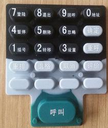 La tastiera di gomma su ordine del tasto del silicone della tastiera per calcola
