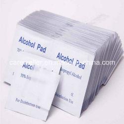 Bon prix OEM 70 70 % Alcool isopropylique Povidone iodée jetables Médical de l'éthanol de l'alcool Prep Essuyez le tampon de coton-tige d'utilisation de désinfection