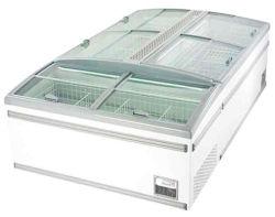 Schiebendes Glas-Kappen-Bildschirmanzeige-Kühlraum-Brust-Gefriermaschine für Supermarkt-Gaststätte