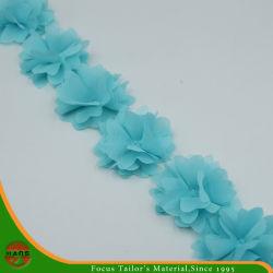 Hans-neues kundenspezifisches Blau färbt Satin-Blumen für Dekoration