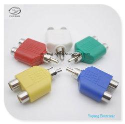 Conectores RCA/AV/adaptador áudio/Bujão para 2xrca/2R para conectores RCA/Audio/Cabo AV (R para 2R, R-2R)