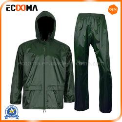 공장 가격 폴리에스테 PVC 비옷 비 재킷과 비 바지