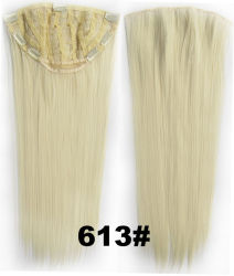 """16"""" #60 1/2 perruque de cheveux clip-in Light-Blond Silk-Straight Remy-Hair Extensions"""