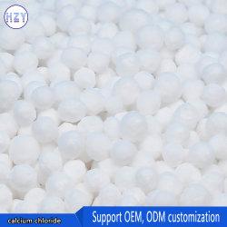 Por encima del 74% de grado industrial Granular Blanco el cloruro de calcio dihidrato de agente seco
